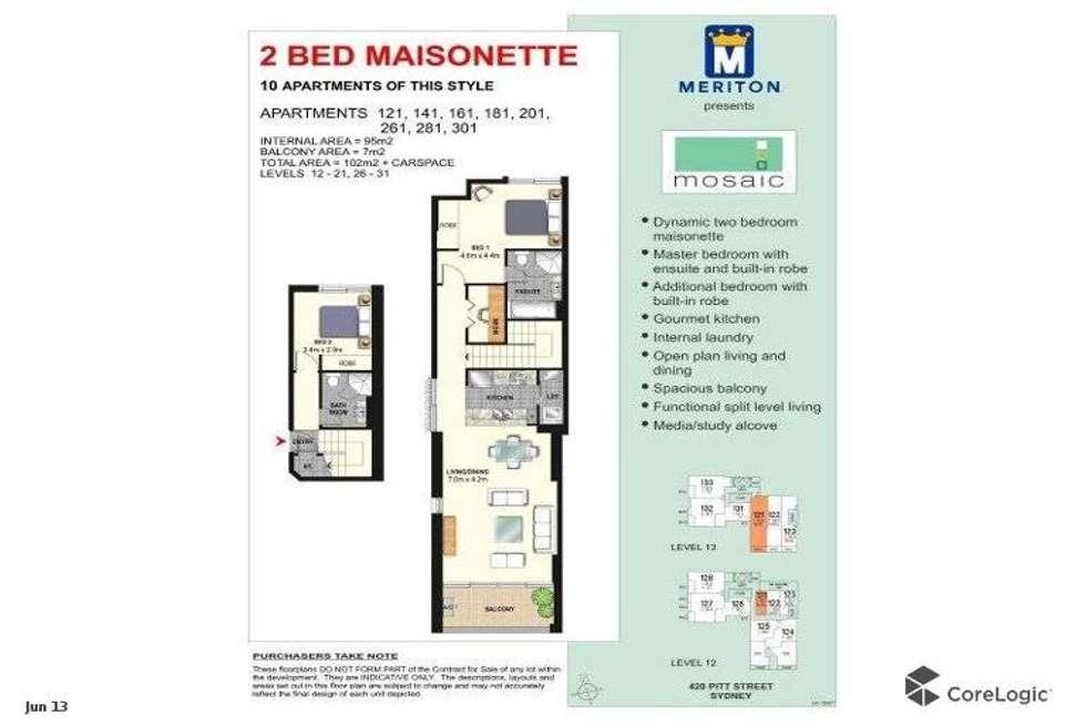 Floorplan of Homely apartment listing, 281/420 Pitt Street, Sydney NSW 2000