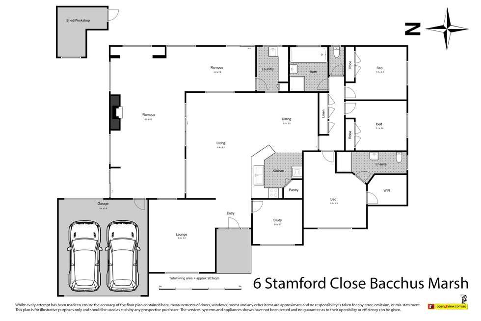 Floorplan of Homely house listing, 6 Stamford Close, Bacchus Marsh VIC 3340
