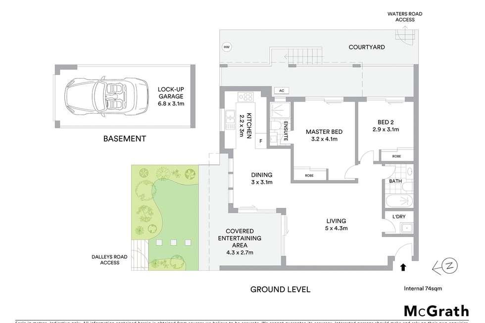 Floorplan of Homely unit listing, 2/52 Dalleys Road, Naremburn NSW 2065
