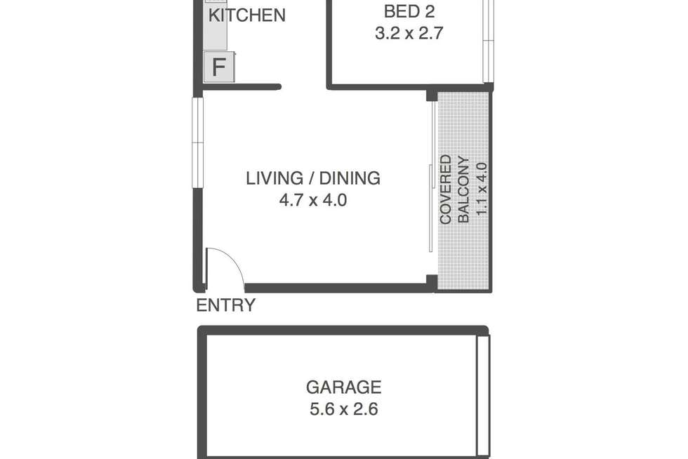 Floorplan of Homely unit listing, 2/16 Jephson Street, Toowong QLD 4066