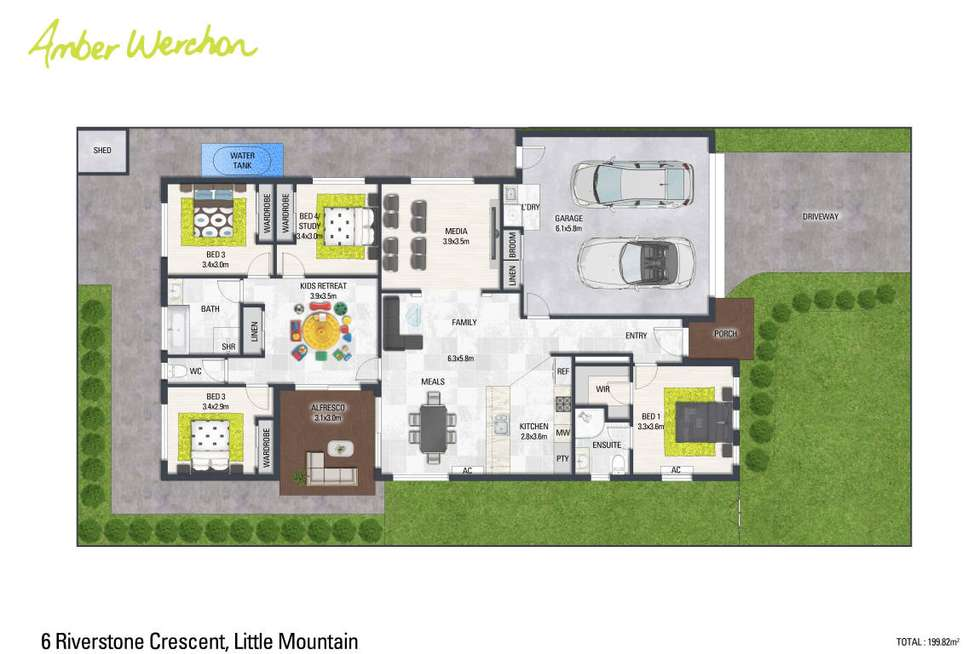 Floorplan of Homely house listing, 6 Riverstone Crescent, Little Mountain QLD 4551