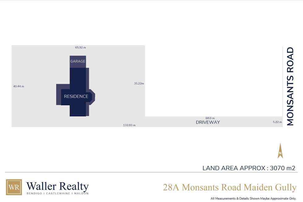 Floorplan of Homely house listing, 28A Monsants Road, Maiden Gully VIC 3551
