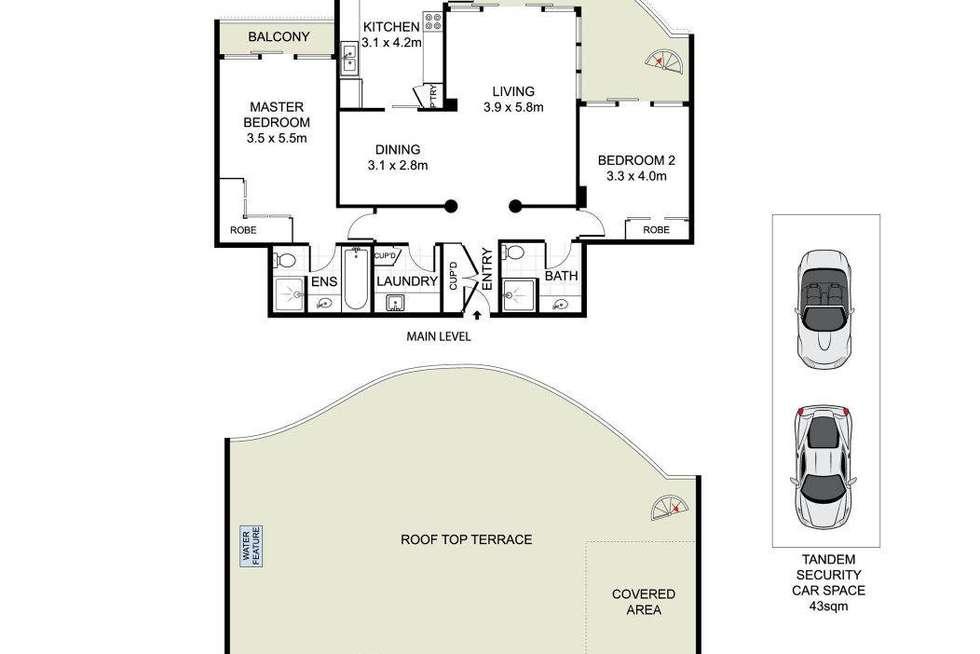 Floorplan of Homely apartment listing, 701/91 Brompton Road, Kensington NSW 2033