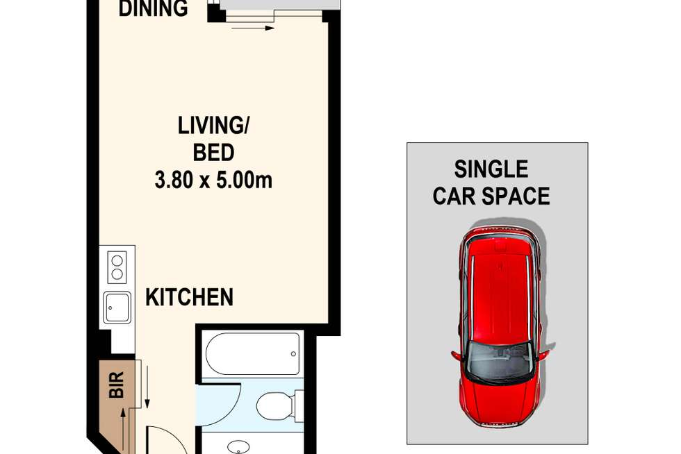 Floorplan of Homely apartment listing, 77/22 Great Western Highway, Parramatta NSW 2150