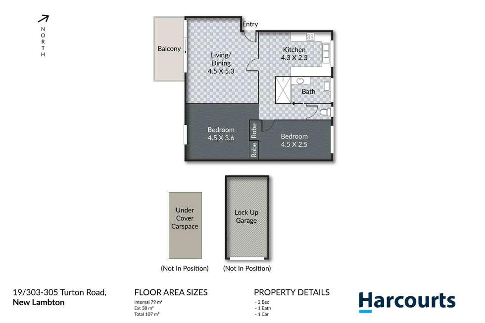 Floorplan of Homely unit listing, 19/303-305 Turton Road, New Lambton NSW 2305