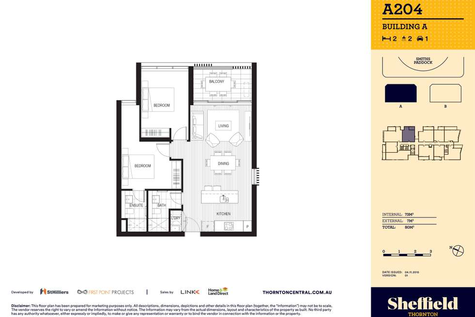 Floorplan of Homely apartment listing, 204/8 Aviators Way, Penrith NSW 2750