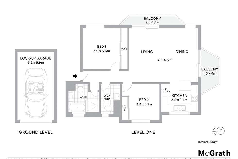 Floorplan of Homely apartment listing, 18/5-7 Water Street, Hornsby NSW 2077