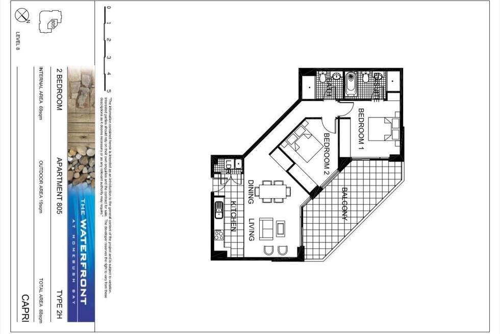 Floorplan of Homely apartment listing, 805/1 The Piazza, Wentworth Point NSW 2127