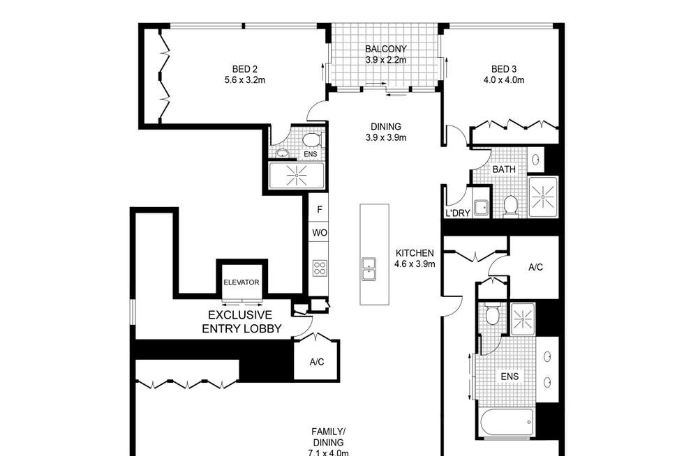 Floorplan of Homely apartment listing, 2/56A Pirrama Road, Pyrmont NSW 2009