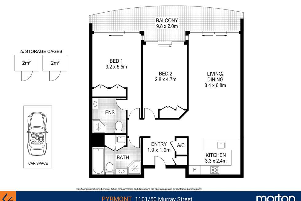 Floorplan of Homely apartment listing, 1101/50 Murray Street, Pyrmont NSW 2009