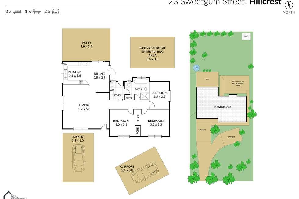 Floorplan of Homely house listing, 23 Sweetgum Street, Hillcrest QLD 4118