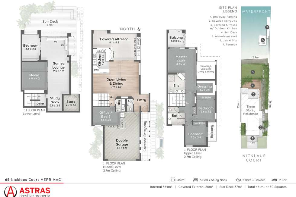 Floorplan of Homely semiDetached listing, 65 Nicklaus Court, Merrimac QLD 4226