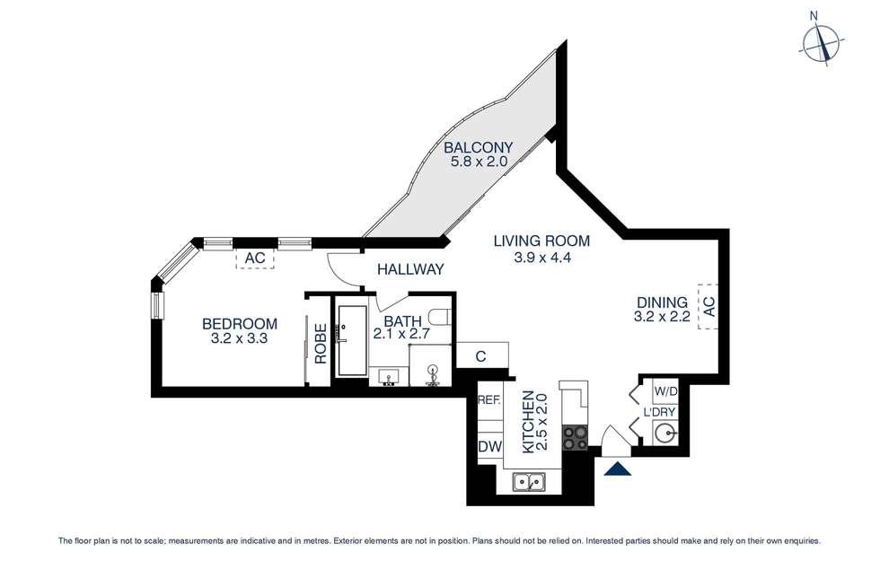 Floorplan of Homely apartment listing, 110/13-15 Hassall Street, Parramatta NSW 2150