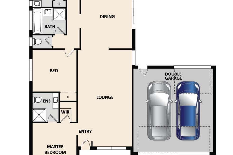 Floorplan of Homely house listing, 1 Rossi Close, Pakenham VIC 3810