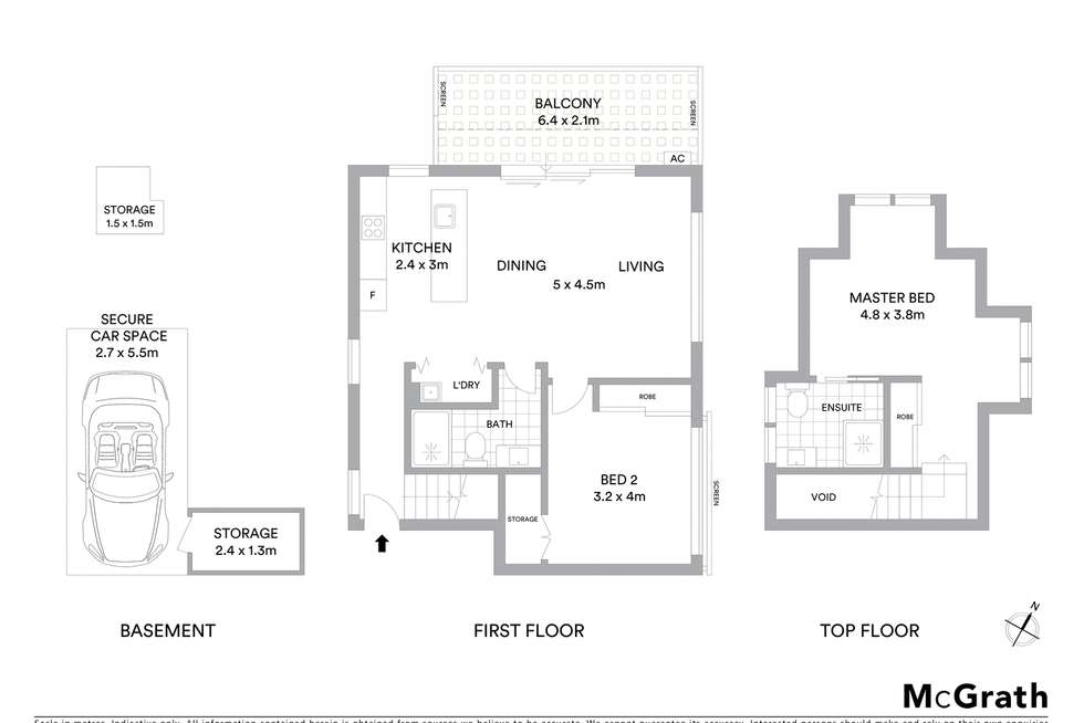 Floorplan of Homely apartment listing, 3/36A Park Road, Naremburn NSW 2065