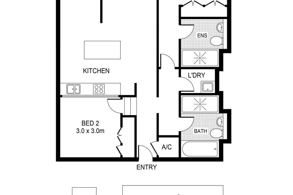 Floorplan of Homely apartment listing, 211/320 Harris Street, Pyrmont NSW 2009