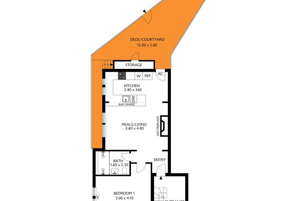 Floorplan of Homely unit listing, 5/20 Phillipps Street, Somerton Park SA 5044