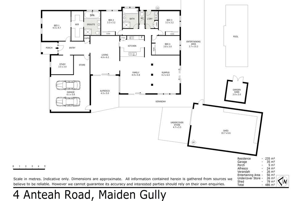 Floorplan of Homely house listing, 4 Anteah Road, Maiden Gully VIC 3551