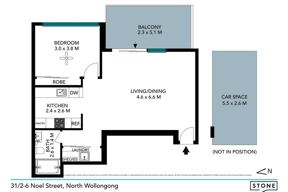Floorplan of Homely apartment listing, 31/2-6 Noel Street, North Wollongong NSW 2500