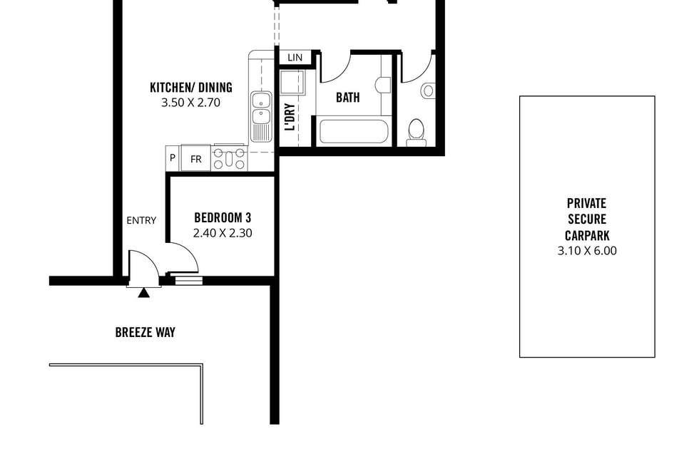 Floorplan of Homely apartment listing, 28B/188 Carrington Street, Adelaide SA 5000