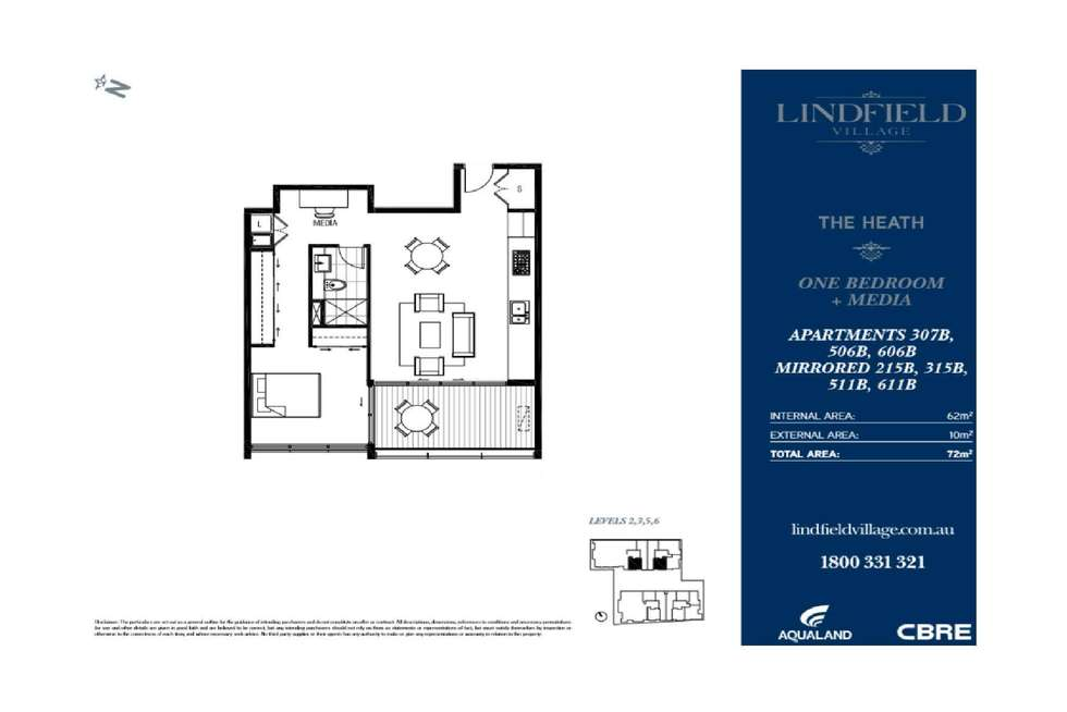 Floorplan of Homely apartment listing, 504/3 Havilah Lane, Lindfield NSW 2070