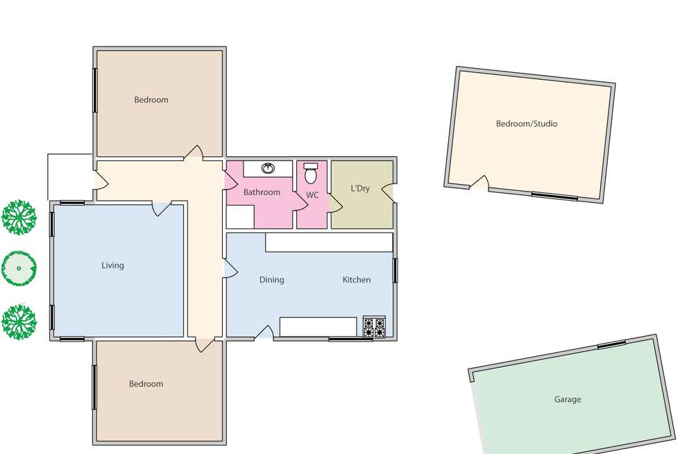 Floorplan of Homely house listing, 24 Seymour Crescent, Soldiers Hill VIC 3350