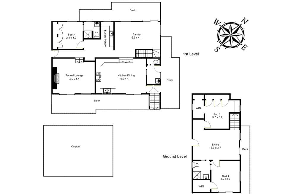 Floorplan of Homely house listing, 5 Durang Road, Upwey VIC 3158