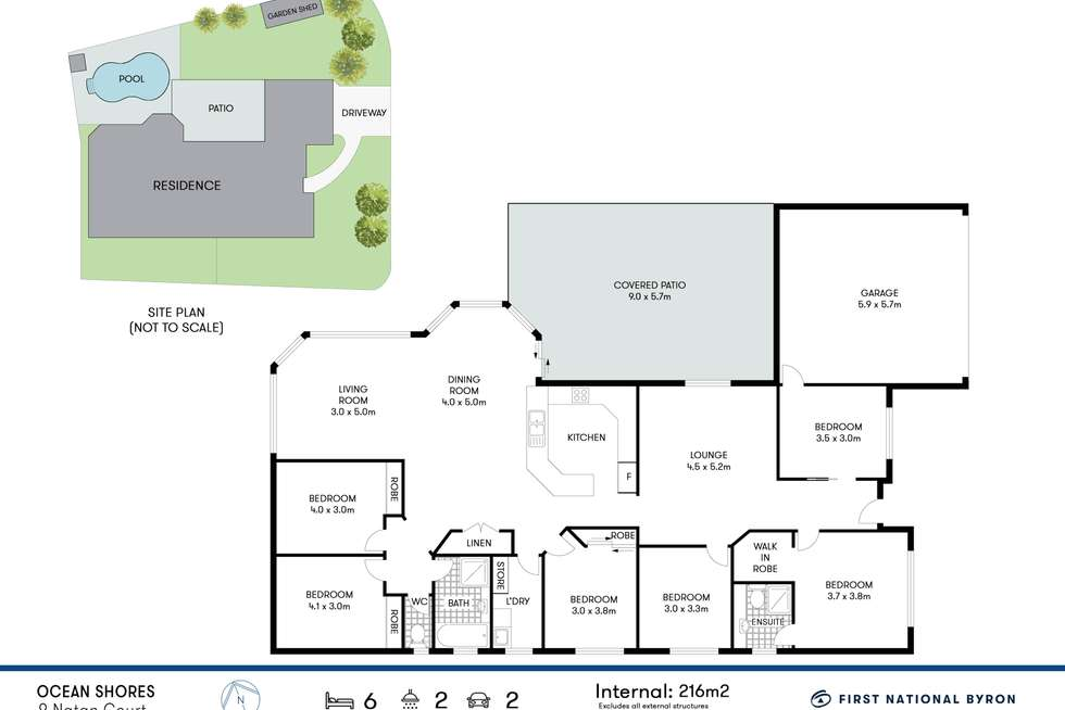 Floorplan of Homely house listing, 9 Natan Court, Ocean Shores NSW 2483