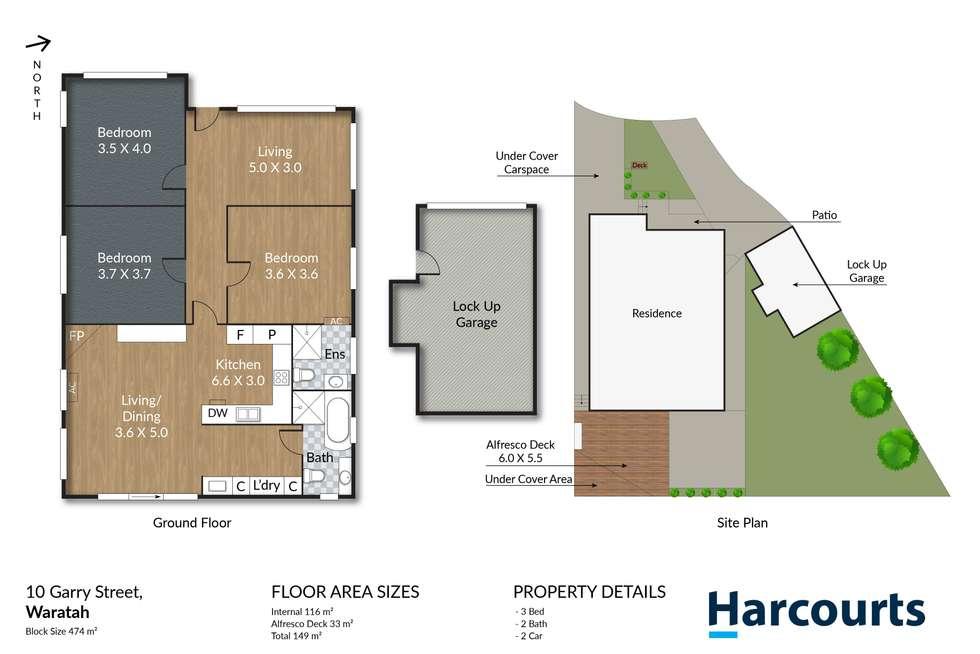 Floorplan of Homely house listing, 10 Garry Street, Waratah NSW 2298