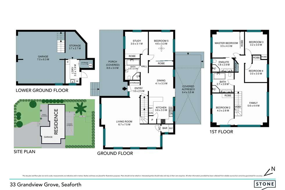 Floorplan of Homely house listing, 33 Grandview Grove, Seaforth NSW 2092