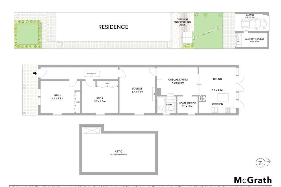 Floorplan of Homely house listing, 33 Slade Street, Naremburn NSW 2065