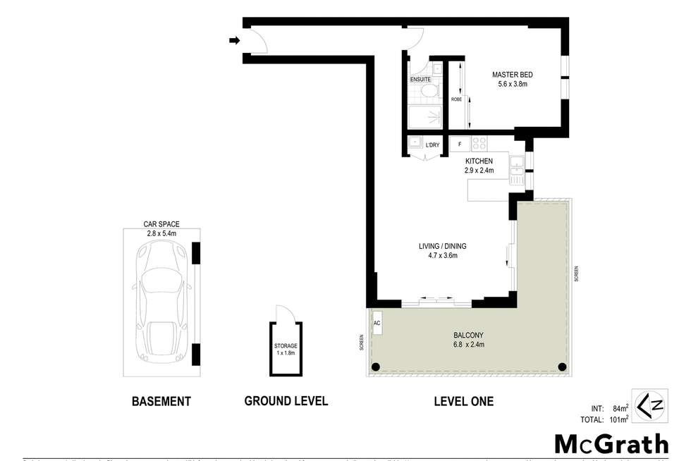 Floorplan of Homely apartment listing, 16/5 Belair Close, Hornsby NSW 2077