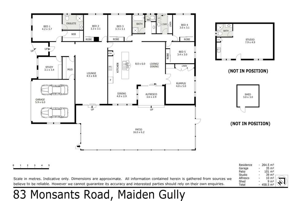 Floorplan of Homely house listing, 83 Monsants Road, Maiden Gully VIC 3551