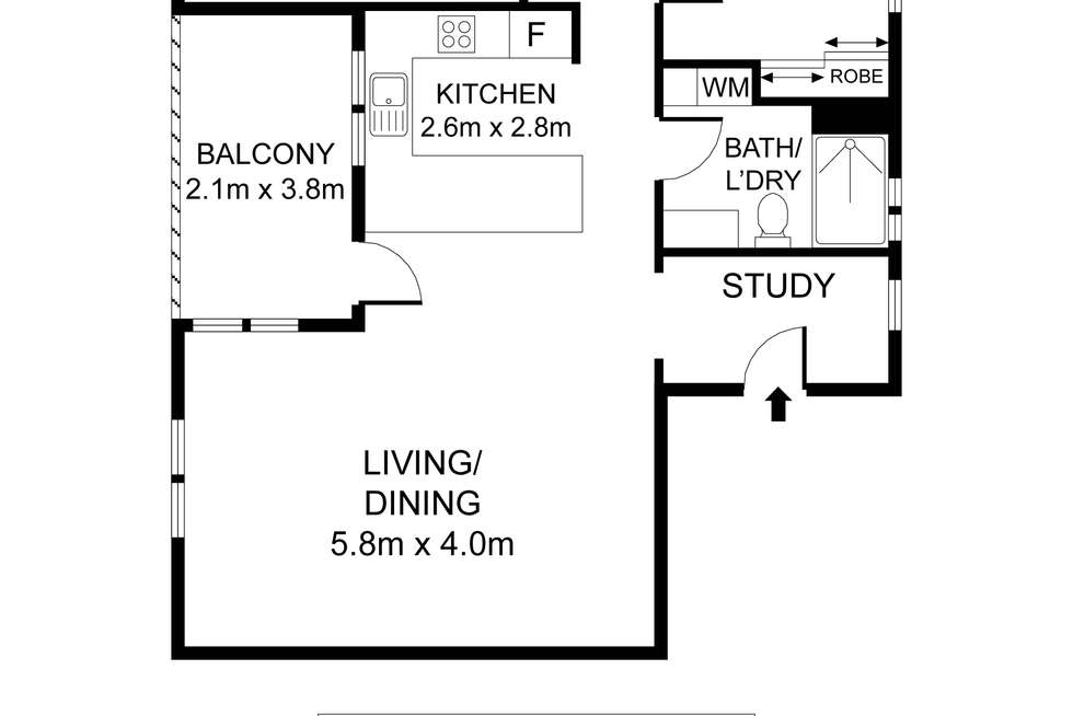 Floorplan of Homely apartment listing, 19/2 Kensington Mews, Waterloo NSW 2017