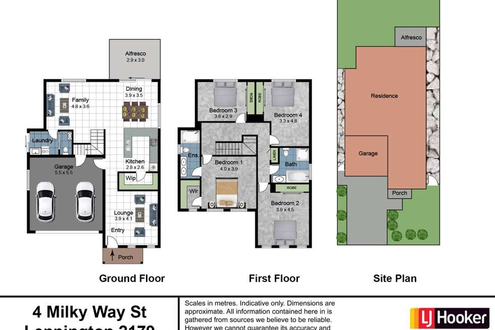 Floorplan of Homely house listing, 4 Milky Way Street, Leppington NSW 2179