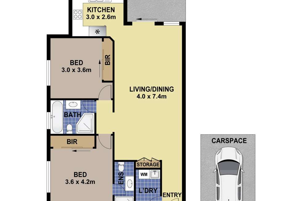 Floorplan of Homely apartment listing, 2/6-8 Hargrave Road, Auburn NSW 2144