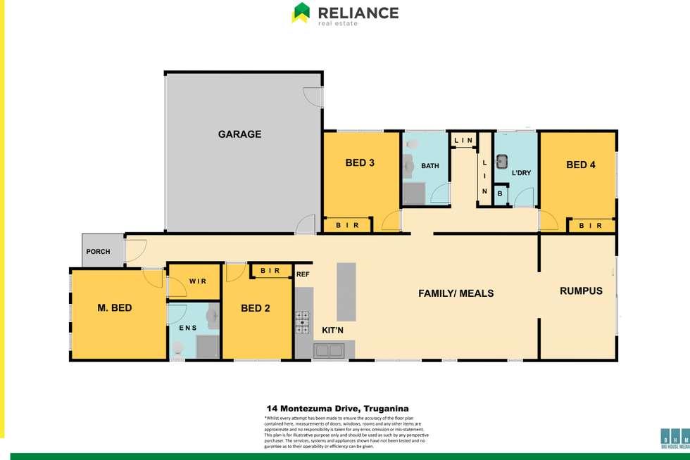 Floorplan of Homely house listing, 14 Montezuma Avenue, Truganina VIC 3029