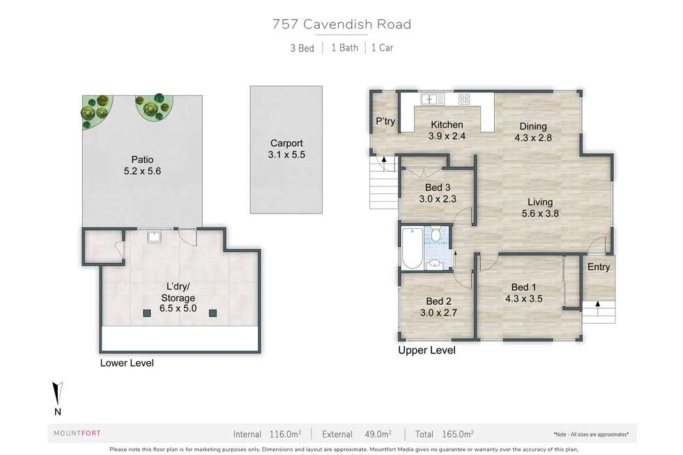Floorplan of Homely house listing, 757 Cavendish Road, Holland Park QLD 4121