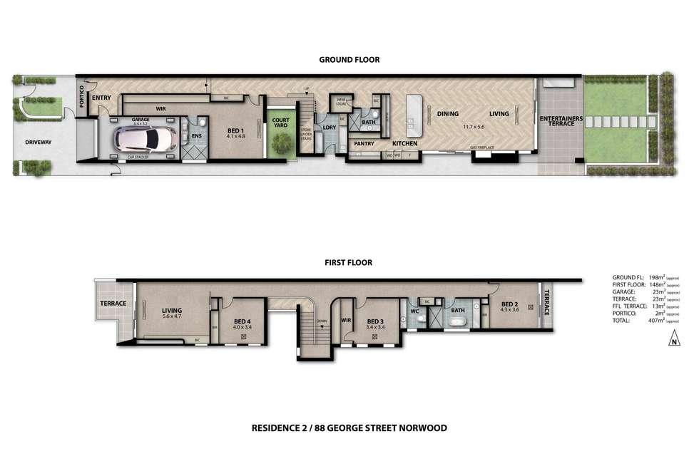 Floorplan of Homely house listing, 88 George Street, Norwood SA 5067