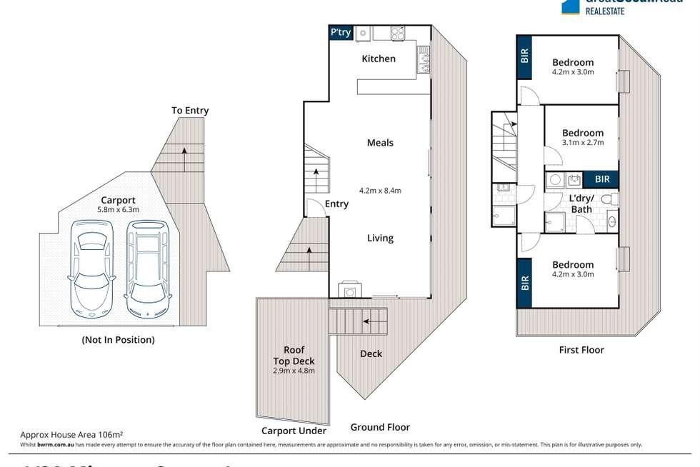 Floorplan of Homely house listing, 1/2A Minapre Street, Lorne VIC 3232