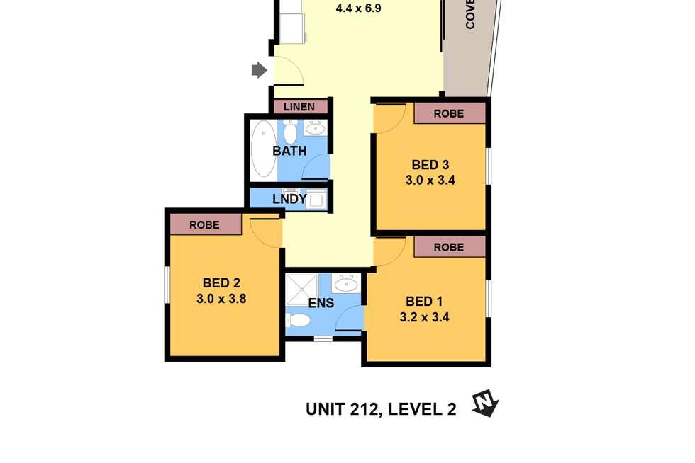 Floorplan of Homely apartment listing, 212/6 Charles Street, Parramatta NSW 2150