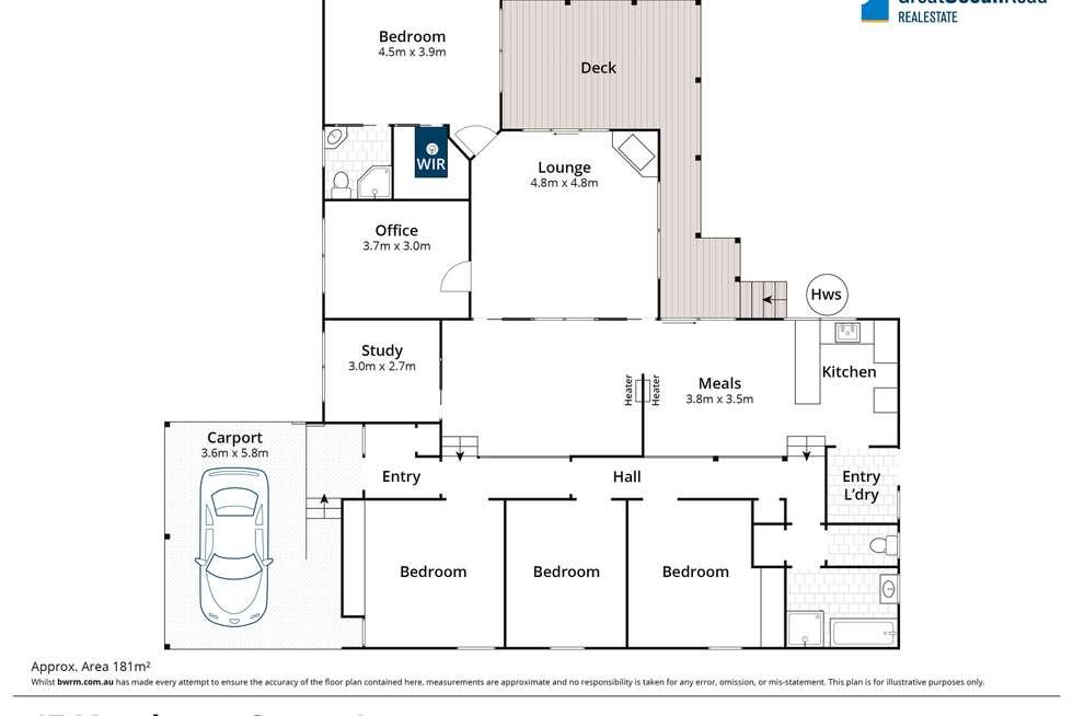 Floorplan of Homely house listing, 17 Moorhouse Street, Lorne VIC 3232