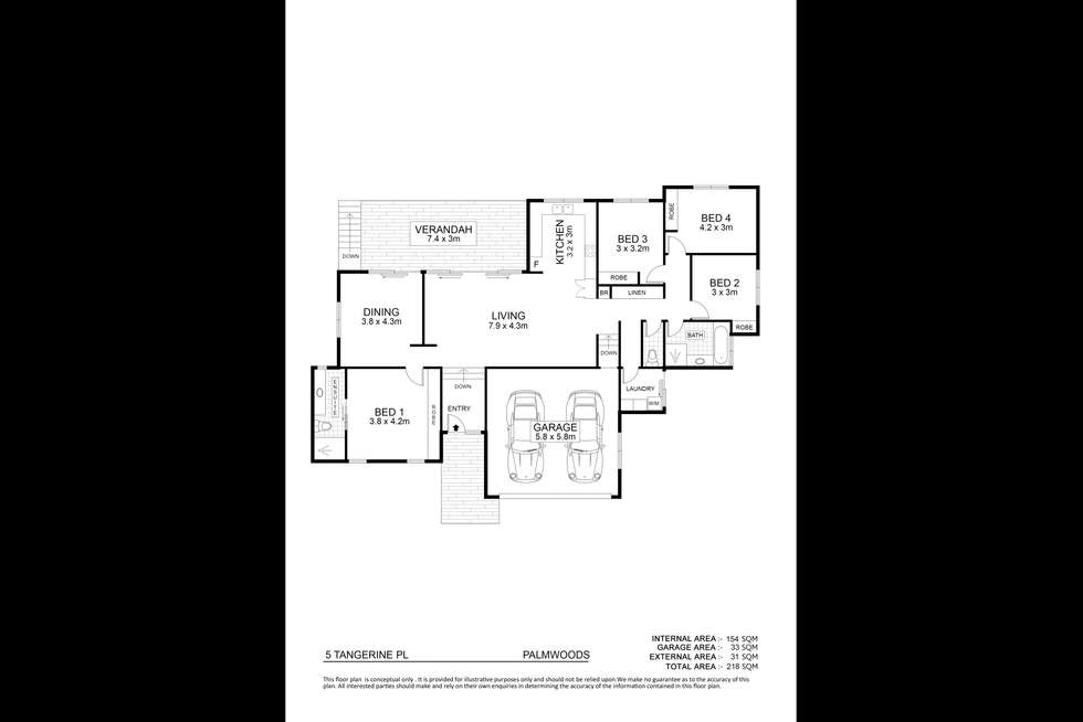 Floorplan of Homely house listing, 5 Tangerine Place, Palmwoods QLD 4555