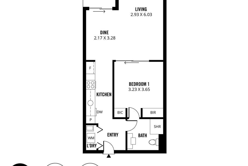 Floorplan of Homely apartment listing, 302/160 Grote Street, Adelaide SA 5000