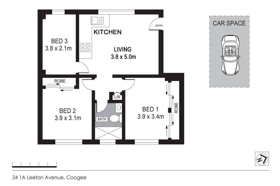 Floorplan of Homely apartment listing, 34/1a Leeton Avenue, Coogee NSW 2034