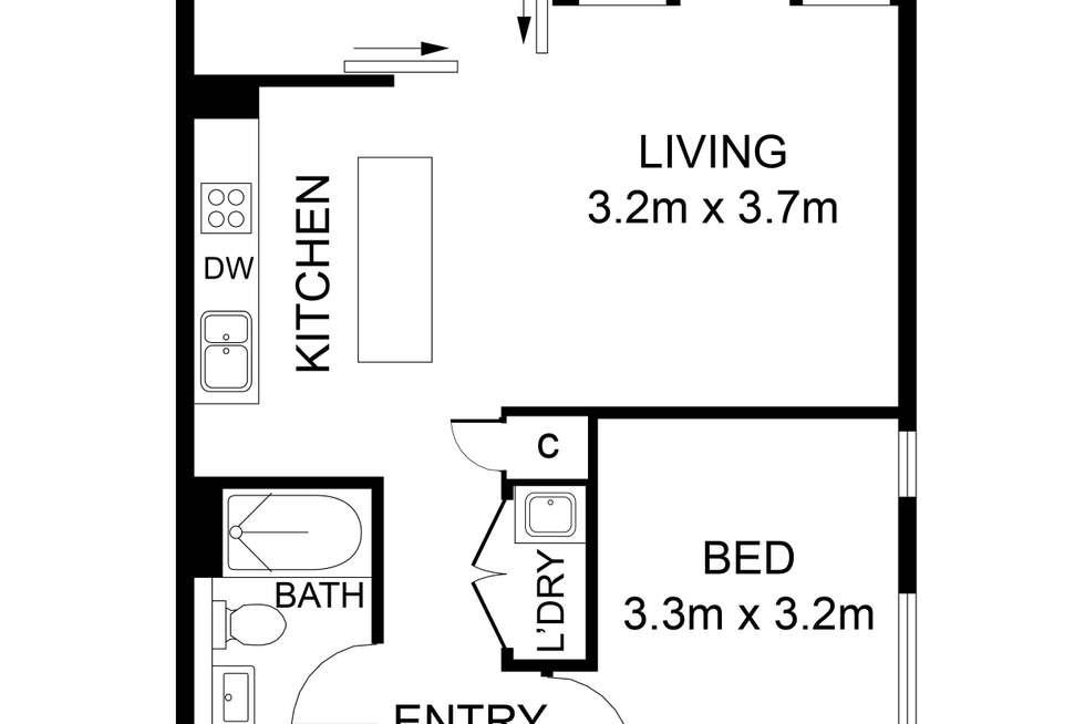 Floorplan of Homely apartment listing, 407/18 Amelia Street, Waterloo NSW 2017