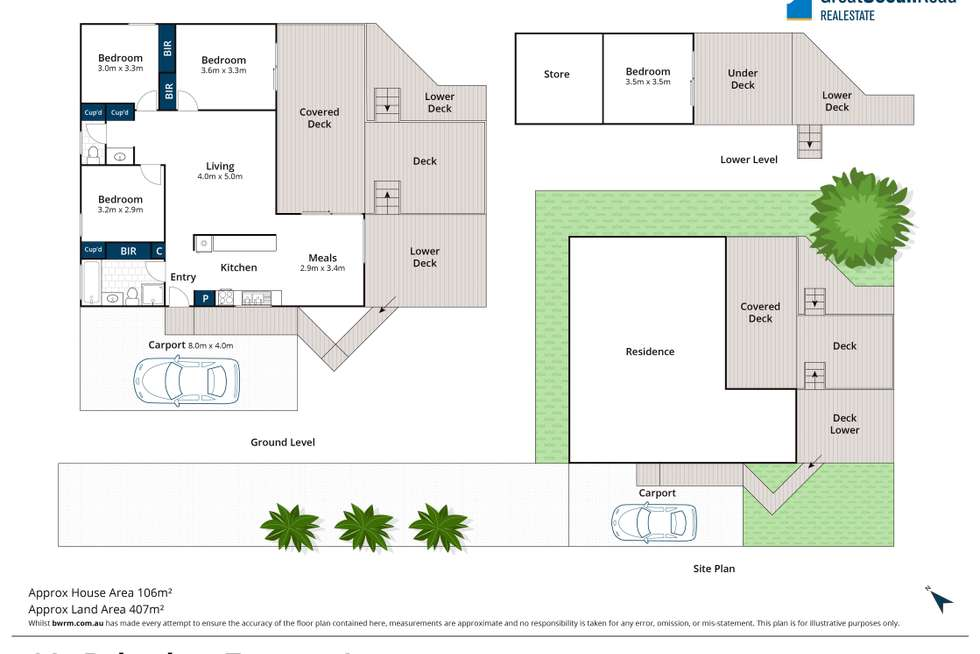 Floorplan of Homely house listing, 14A Belvedere Terrace, Lorne VIC 3232
