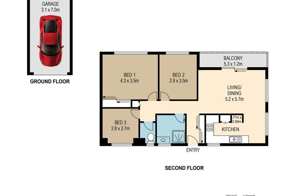 Floorplan of Homely unit listing, 4/92 Oxford Terrace, Taringa QLD 4068