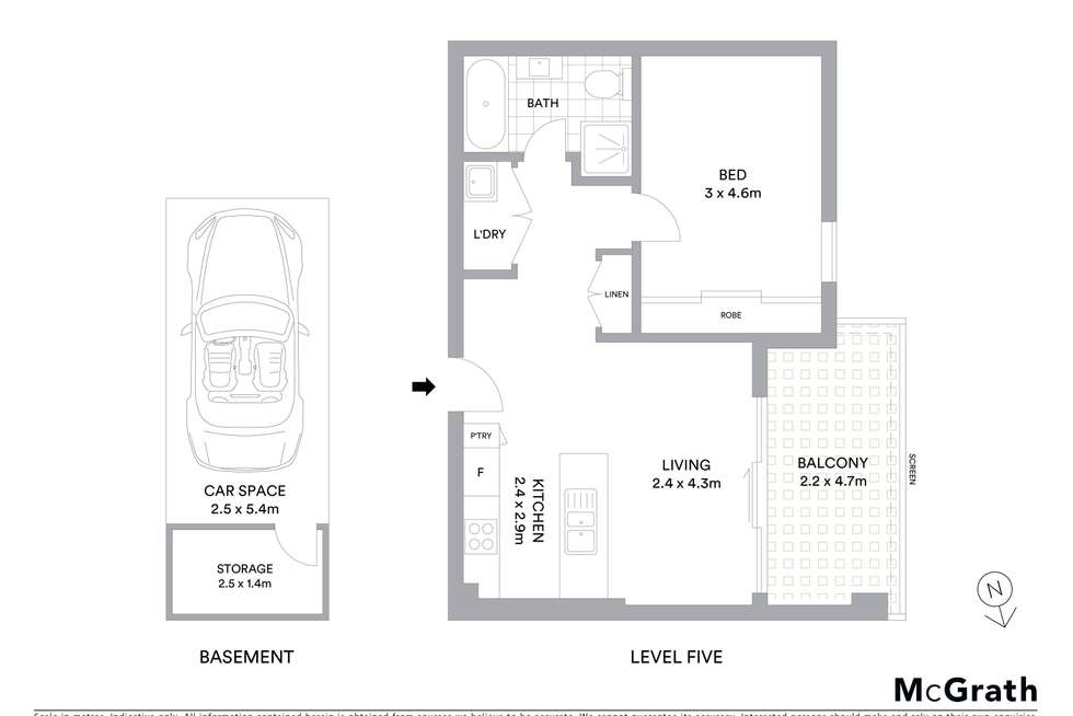 Floorplan of Homely apartment listing, 25/37 Campbell Street, Parramatta NSW 2150