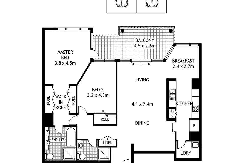 Floorplan of Homely apartment listing, 402/38 Refinery Drive, Pyrmont NSW 2009